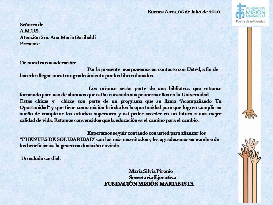 Ejemplo De Carta Para Pedir Donaciones